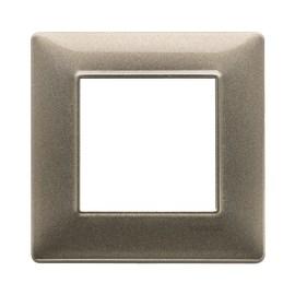 Placca 2 moduli Vimar Plana bronzo metallizzato