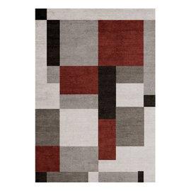 Tappeto Soave Soft grigio, rosso, nero 120 x 170 cm