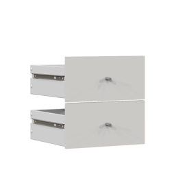 Set 2 cassetti Multikaz bianco L 32,2 x P 32,2 x H 31 cm