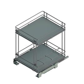 Estraibile 2 ripiani con portabottiglie per modulo da 45 cm