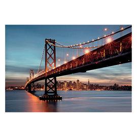 Fotomurale Bay bridge multicolor 254 x 368 cm