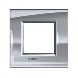 Placca 2 moduli BTicino Livinglight nichel