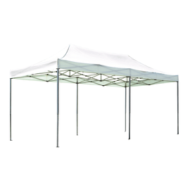 Gazebo pieghevole copertura bianca 6 x 3 m