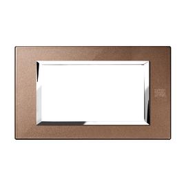 Placca 4 moduli Simon Urmet Nea Expì bronzo lucido