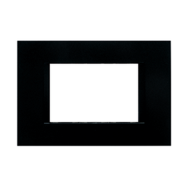 Placca 3 moduli FEB Flat nero