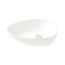 Lavabo da appoggio irregolare Eolian L 47 x P 35 x H  16 cm bianco