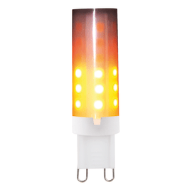 Lampadina decorativa LED G9 =3W arancio 360°