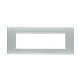 Placca 7 moduli BTicino Livinglight Air bianco perla