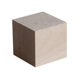 Cubo faggio grezzo naturale 90 x 90 x 90 mm