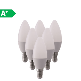 6 lampadine LED Lexman E14 =40W oliva luce naturale 270°