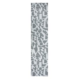 Tenda a lamelle verticali fantasia lettera grigio H 260 cm