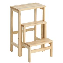 Sgabello in legno 3 gradini Valdomo Suegiù