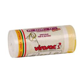 Sacco rifiuti Saccopratico 45 x 42 cm bianco 25 pezzi