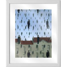 Quadro in vetro con cornice Magritte man 45,5x55,5