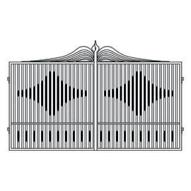 Cancello verniciato Fuji L 400 x H 180/200 cm