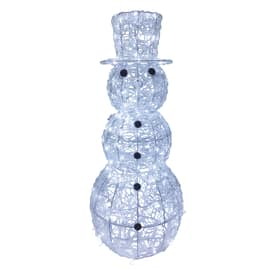 Pupazzo di neve luminoso 200 Led bianca fredda 5 m