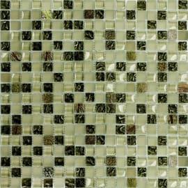 Mosaico Mix selva luce 30 x 30 cm verde