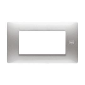 Placca 4 moduli Simon Urmet Nea Flexa alluminio