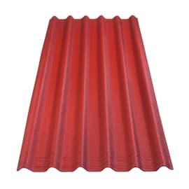Lastra ondulata Onduline Easyfix rosso in bitume 81 x 200  cm, spessore 2,6 mm
