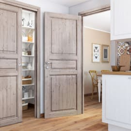 Porta da interno battente Beethoven shabby chic 80 x H 210 cm reversibile