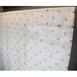 Coppia tendine a vetro per finestra Pilma ocra 60 x 160 cm