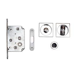 Maniglia per porta scorrevole quadra con serratura
