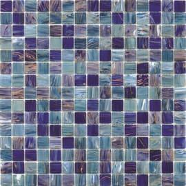 Mosaico Mix gold 32,7 x 32,7 cm blu