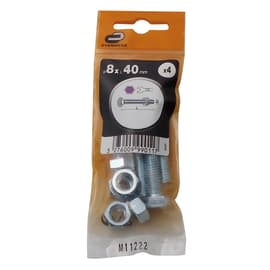 Bullone testa esagonale M8 x 40 mm