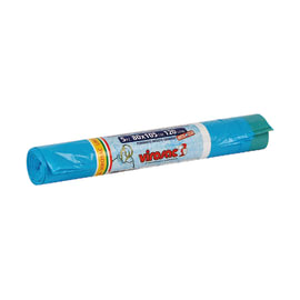 Sacco rifiuti Saccopratico 105 x 80 cm azzurro 5 pezzi