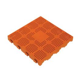 Piastrella polipropilene forata 40 x 40  cm x 48  mm terracotta