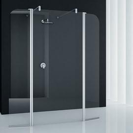Doccia walk-in Twist 4 80, H 195 cm cristallo 6 mm trasparente/silver