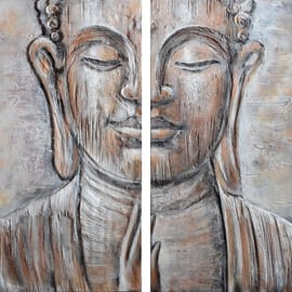 dipinto su tela Buddha 120x120
