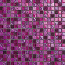 Mosaico Fucsia glit 30 x 30 cm rosa