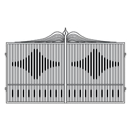 Cancello verniciato Fuji L 300 x H 180/200 cm