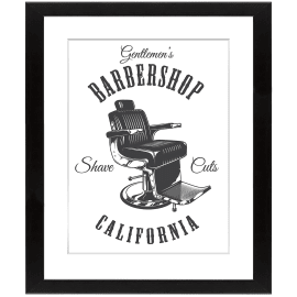 Stampa incorniciata Barber shop 40 x 50 cm