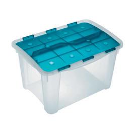 Scatola Home Box 40 L 37,2 x P 53,9 x H 33,3 cm azzurro