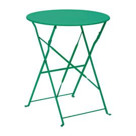 Tavolo pieghevole Color, Ø 60 cm verde smeraldo