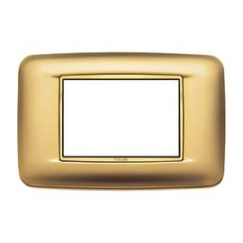 Placca 3 moduli Vimar Eikon Round oro satinato