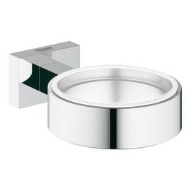 Porta bicchiere Essentials Cube cromata grigio