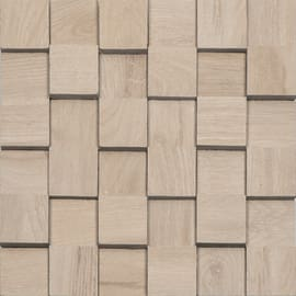 Mosaico Visual Wood 30 x 30 cm beige