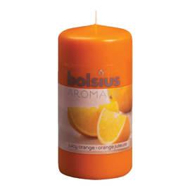 Moccolo cilindro ø 6 cm H 12 cm essenza arancia