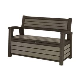 Baule panchina Brushed Bench Keter in resina
