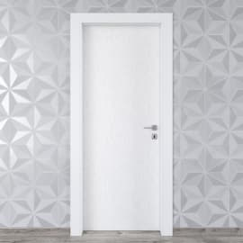 Porta da interno battente Hunk cemento calce 80 x H 210 cm sx
