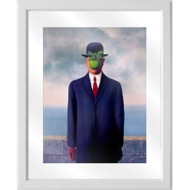 Quadro in vetro con cornice Magritte mela 45,5x55,5