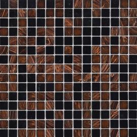 Mosaico Ambra notte 32,7 x 32,7 cm marrone