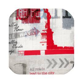 Portabiancheria Cuscino componibile quadro sky grigio/rosso