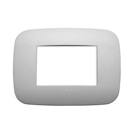 Placca 3 moduli Vimar Arké argento matt
