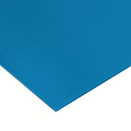 Lastra polionda azzurro 1000 x 1000  mm, spessore 2,5 mm