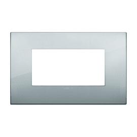 Placca 4 moduli Vimar Arké argento