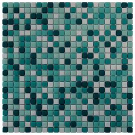 Mosaico Anemone 30 x 30 cm azzurro, verde